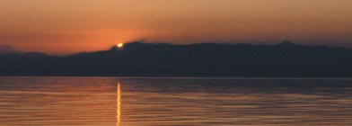 US Ports: Fauntleroy, WA. Puget Sound Sunset