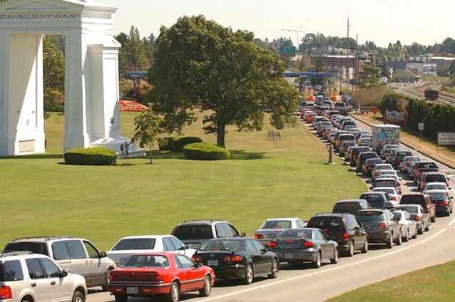 To avoid the 3 hrs drive along the I-5 Hwy and possible extended waits at the Peace Arch border crossing